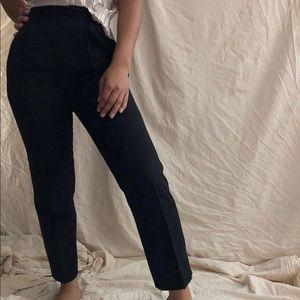 [Vintage] Black Wool Blend High Waisted Slacks
